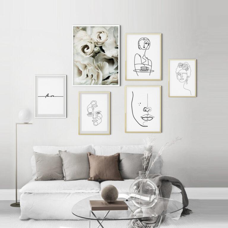مجموعه تابلوهای بانوی لطیف