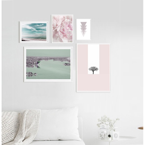 مجموعه تابلو دریاچه صورتی
