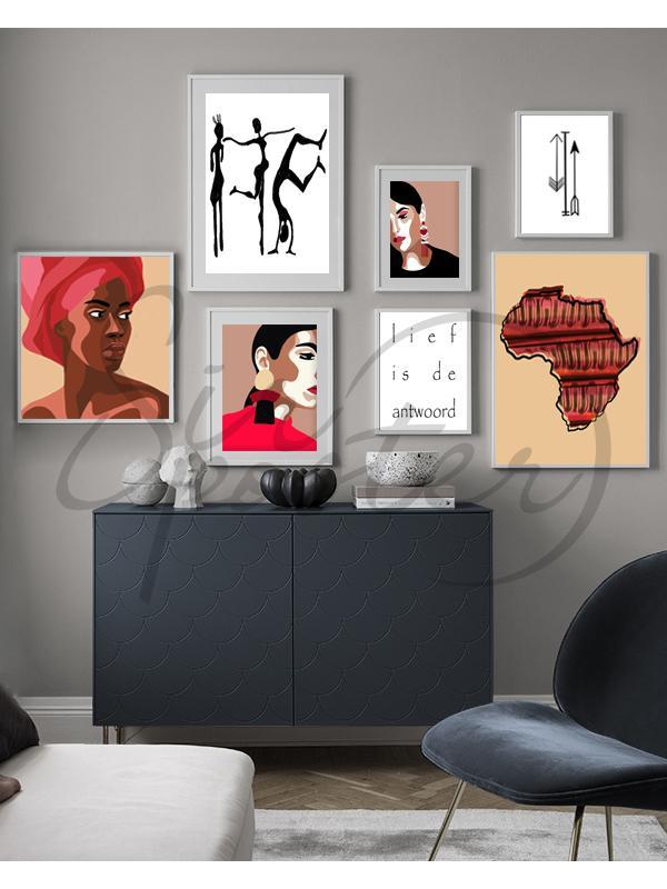 مجموعه تابلوهای رقص آفریقایی