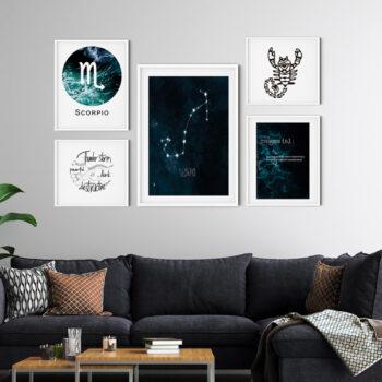 مجموعه تابلوهای متولد آبان – Scorpio zodiac gallery Collection
