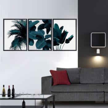 مجموعه تابلو های برگ آبی