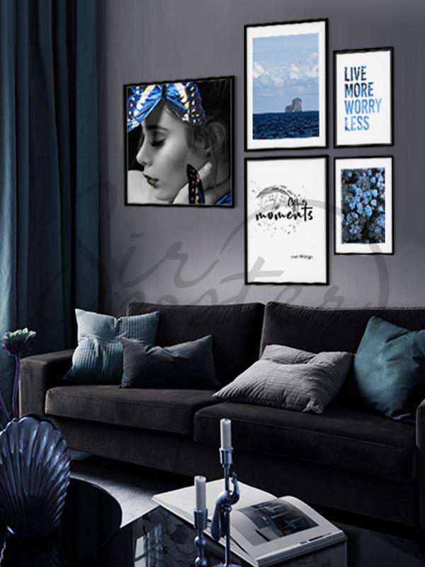 مجموعه تابلوهای لحظه آبی