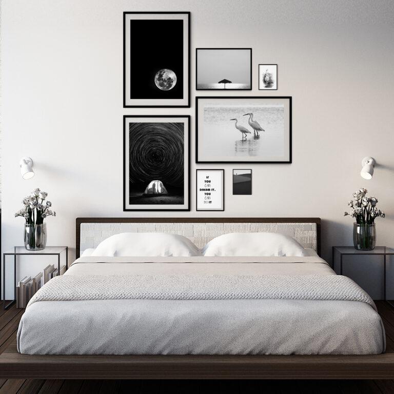 مجموعه تابلو رویاهای سفید و سیاه