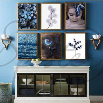 پوستر مجموعه تابلوهای احساس آبی