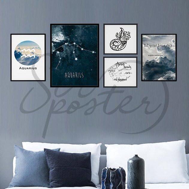 مجموعه تابلوهای بهمن ماهی – Aquarius zodiac mini collection