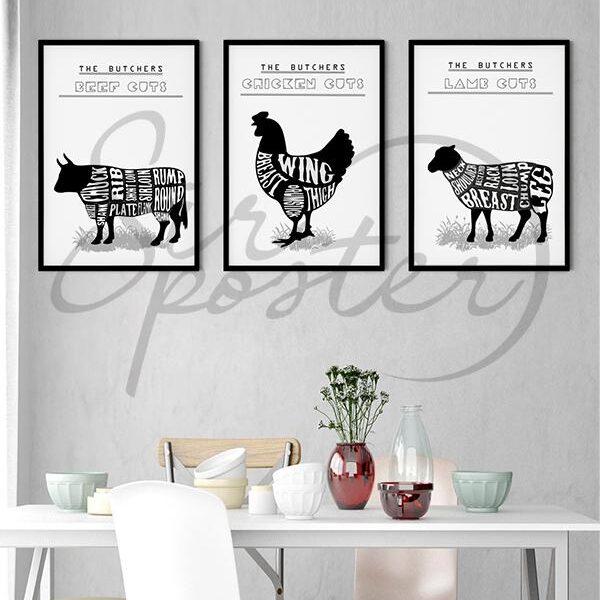 تابلوهای مینی مجموعه آشپزخانه