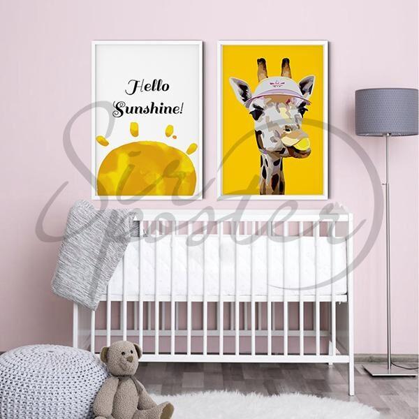 مجموعه تابلو زرافه زرد