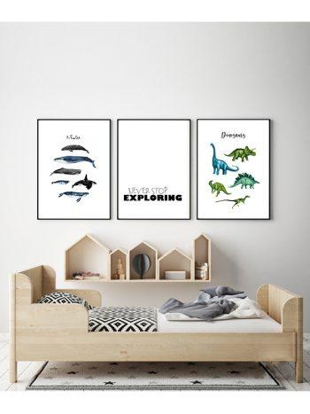 مجموعه تابلو دایناسور