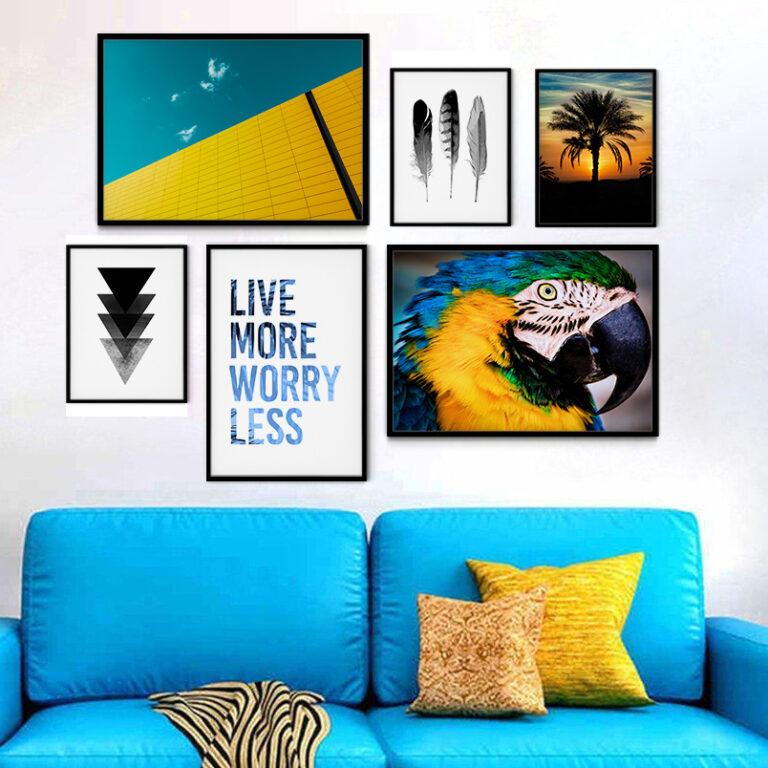 مجموعه تابلو آبی و زرد