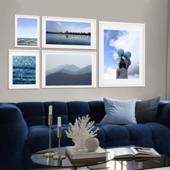مجموعه تابلوهای آبی