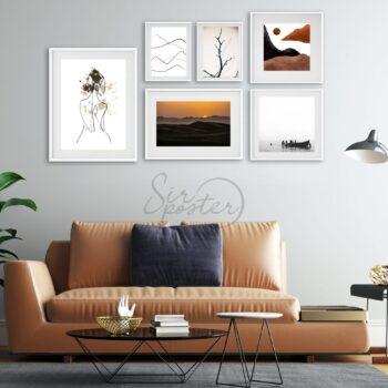 پوستر مجموعه تابلوهای غروب خاکی