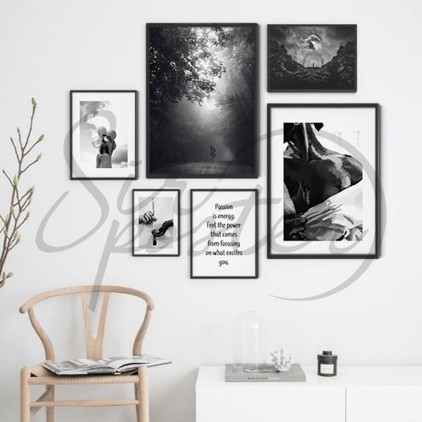 مجموعه تابلو رویا سیاه و سفید