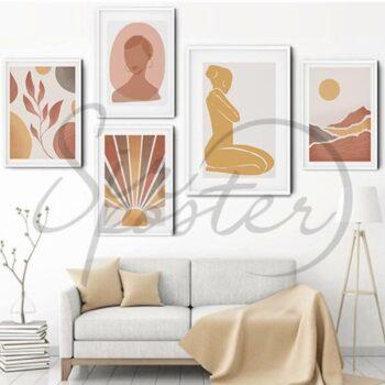 مجموعه تابلو بانو و خورشید