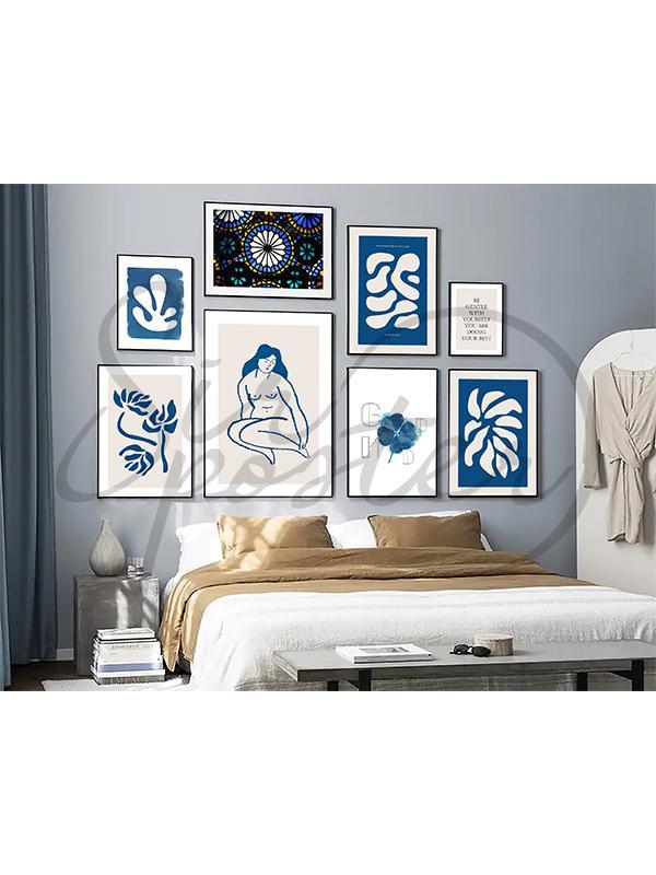 مجموعه تابلو زن آبی