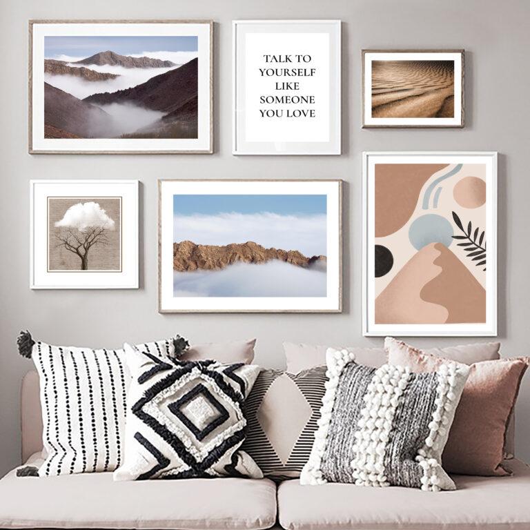 مجموعه تابلو کوه و ابر