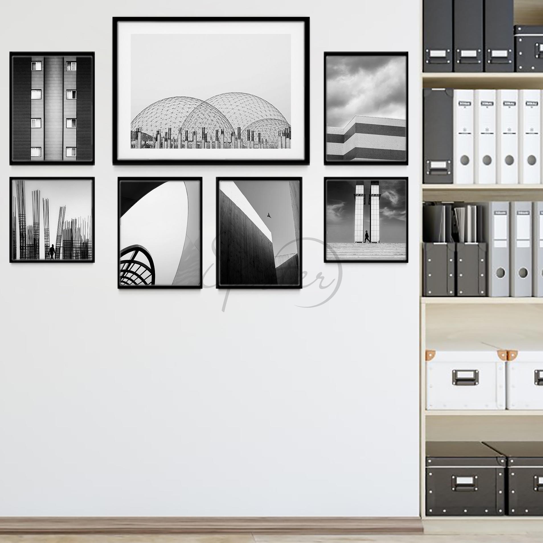 مجموعه تابلو معماری مینیمال
