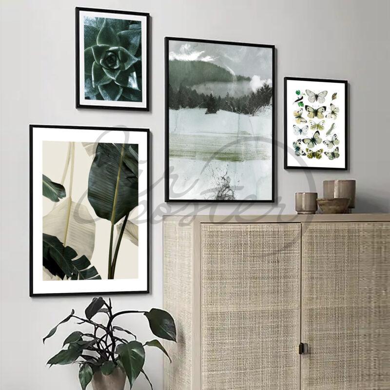 مجموعه تابلوهای سبز و پروانه